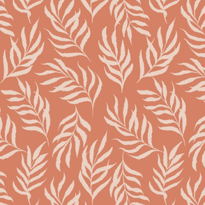 Earthy abstract leaves-orange