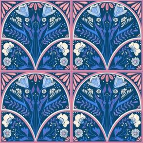 Art Nouveau Folk Tile