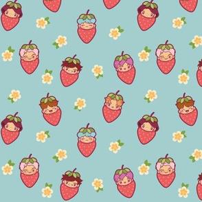 BTS Strawberry Patch (Blue)