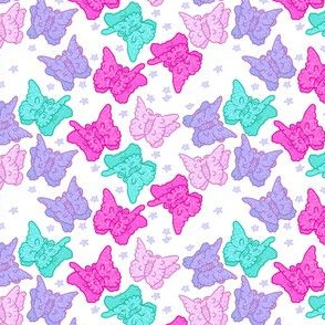 soft girl aesthetic Butterfly Clips on White