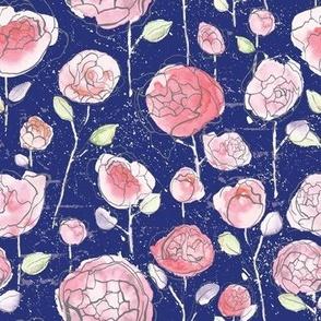 Empress Roses - Navy
