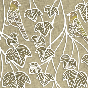 Birds and Vines- Finches and Ivy Large