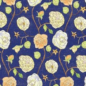 Gwendolyn's Roses -  Navy