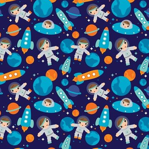 Astronaut outer space rocket build a rocket boys blue universe and planets SMALL