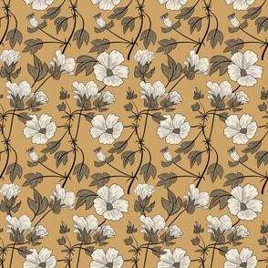 Floral line art simple pattern