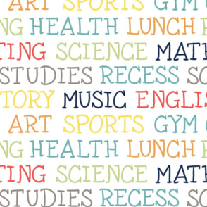 Back to School Stem Math English Art Science Sports Music Health History by Angel Gerardo - Large Scale