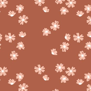 Boho buttercup retro flower garden minimal daisy flowers scandinavian trend style nursery design stone red orange coral