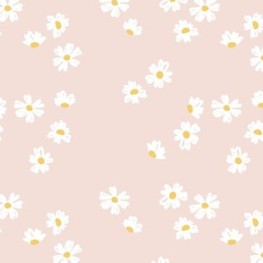 Boho buttercup retro flower garden minimal daisy flowers scandinavian trend style nursery design blush pink yellow