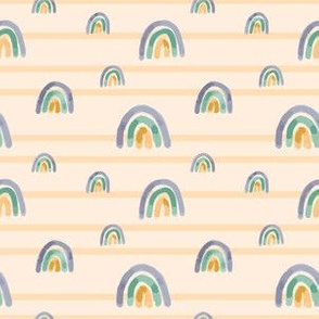 Yellow rainbows and stripes