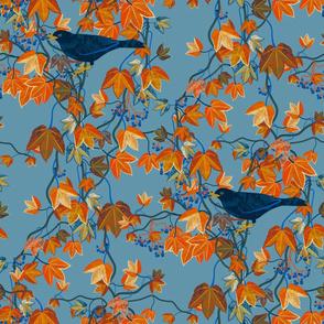 Autumn Vines-Maximalist-blue