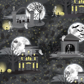 Gothic Halloween Skeletons and Ghouls