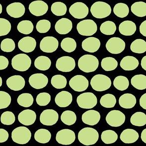 Wobbly Sweet Peas (black&green)