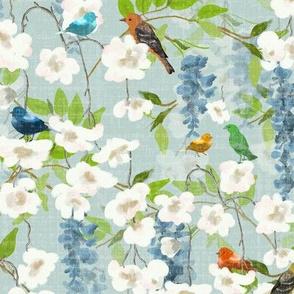 Birds and Vines - Spring Garden