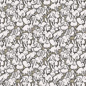 Bunny Friends in Grey-Green