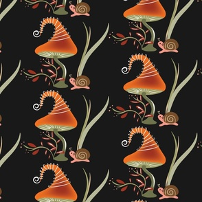 Lolamer - Mushroom and Snail dark background