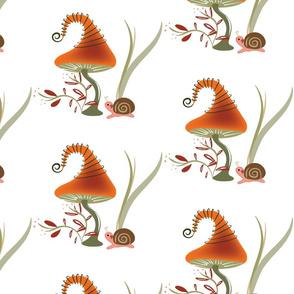 Lolamer - Mushroom and Snail white background