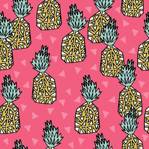 pineapple fabric // sweet tropical exotic hawaii summer pink tropical fruits
