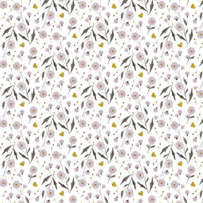 Meadow Flowers White Background