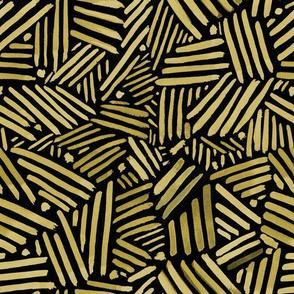 Black & Gold Geometric Lines