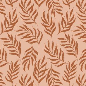 Earthy abstract leaves-deep orange