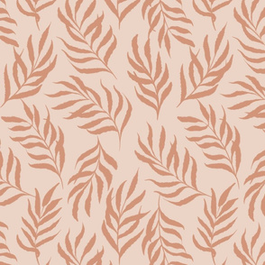 Earthy abstract leaves-light orange