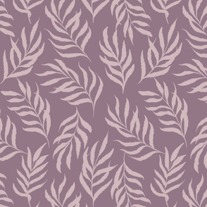 Earthy abstract leaves-light purple