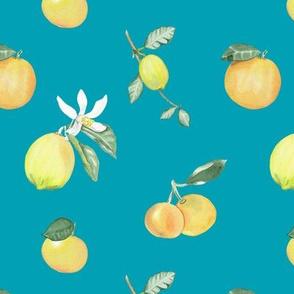 Citrus Pattern 7 Aqua