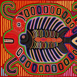 Kuna Indian Mola Flying Fish