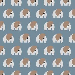 Scandinavian style elephants in a row sweet baby jungle animals nursery stone gray neutral boys