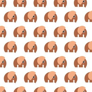 Scandinavian style elephants in a row sweet baby jungle animals nursery neutral rust copper brown retro