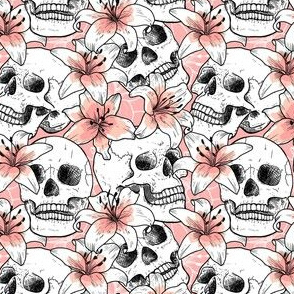 Skulls and lily