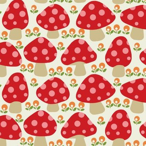 Dottie mushrooms _ Red