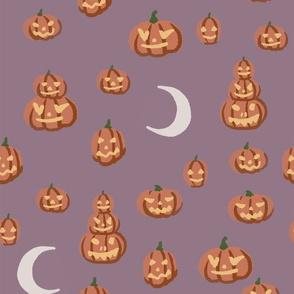 halloween pumpkin-purple