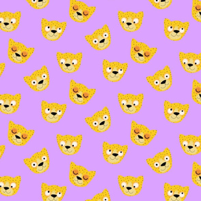 Leopards on lilac