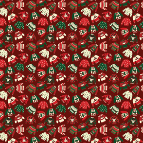 Ugly Christmas Sweaters Red Green Beige - Small Scale