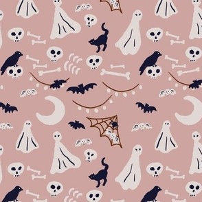 ghost's halloween party-pink