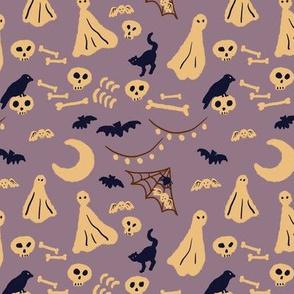 ghost's halloween party-purple