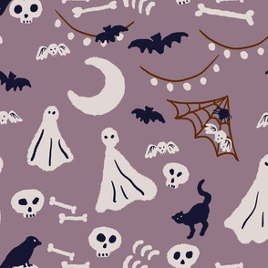 (large)ghost's halloween party-purple