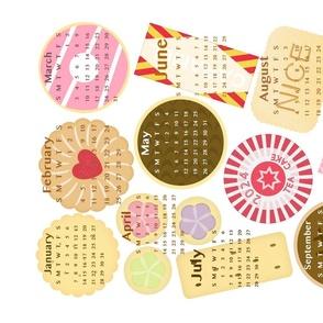 British Biscuit Calendar Tea Towel 2021