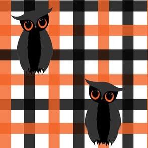 Halloween Plaid and Owls