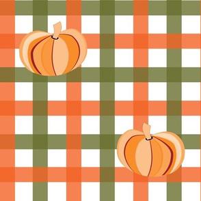 Halloween Plaid & Pumpkins