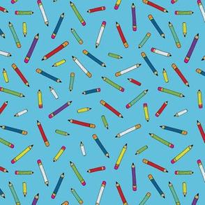 Pencil scatter - sky blue - Small by Cecca Designs