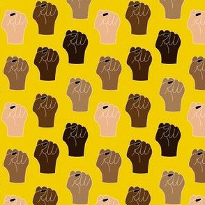 Black Lives Matter Small Scale-yellow