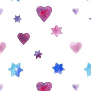 Hearts And Stars White