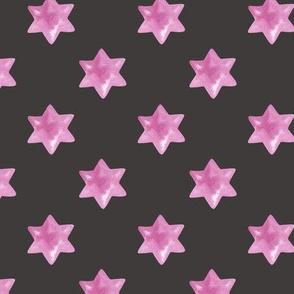 Pink stars on Dark