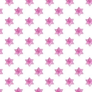 Pink stars on White