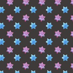 Watercolor stars on Dark
