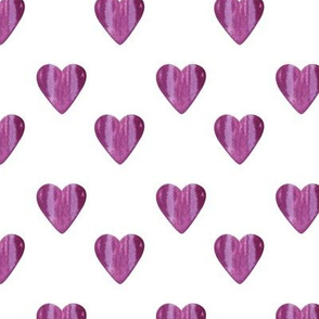 Heart Pattern White