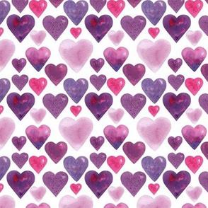 Many hearts White