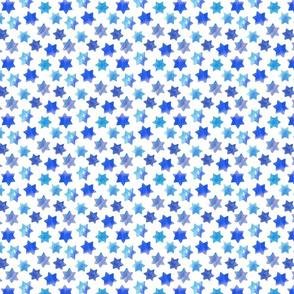 Blue stars on White